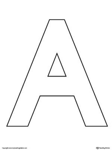 uppercase letter  template printable printable alphabet