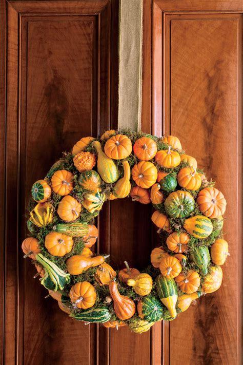 decorating gourds fall wreath ideas southern living