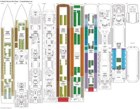 Celebrity Mercury Deck Plans, Diagrams, Pictures, Video