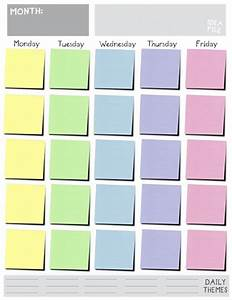 Monday through friday calendar template great printable for Saturday to friday calendar template