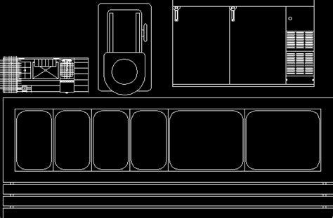 mobiliarios  cocina industrial en autocad cad
