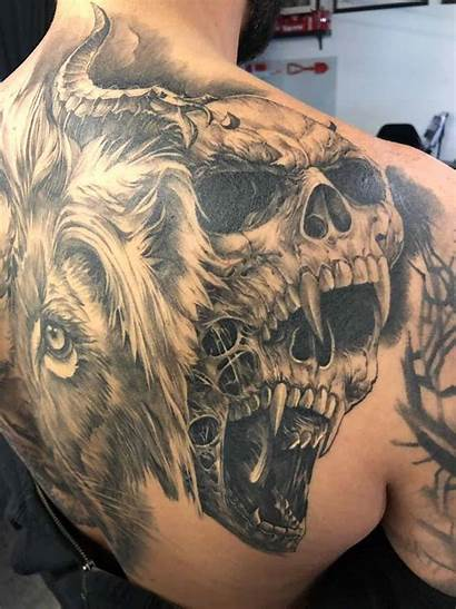 Shoulder Tattoos Skull Everything Lion Need Know