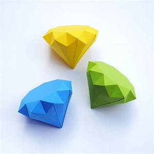 3D paper diamonds | Minieco
