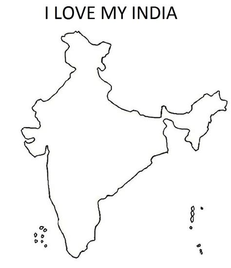 map  india  kids coloring home
