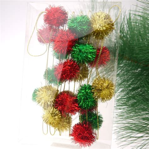 christmas decoration fluffy ball garland buy ball