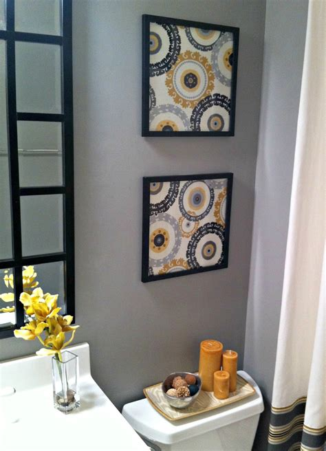 framed fabric as wall idea home decoz