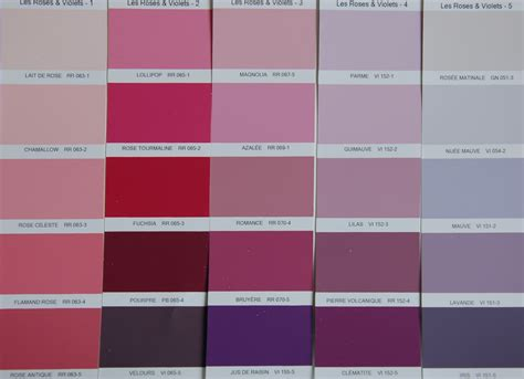 decoration chambre taupe les couleurs et leurs noms roses et violets unik