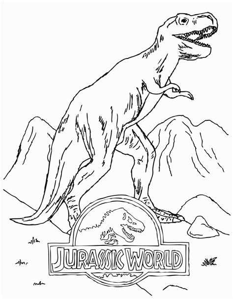 jurassic world coloring sheets coloring pages dinosaur