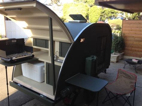 man builds  military style teardrop trailer