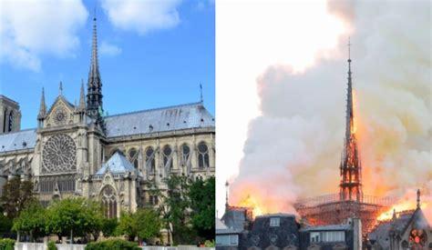 catedral de notre dame el antes  despues del incendio