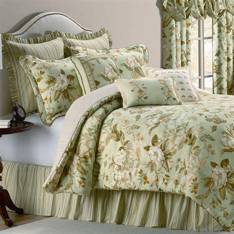 williamsburg grandiflora magnolia floral comforter bedding