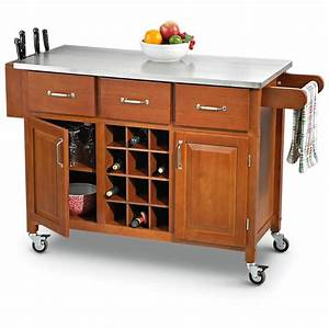 Stainless, Steel, -, Top, Rolling, Kitchen, Cart