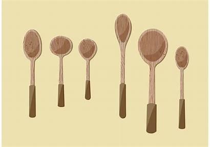 Spoon Wooden Vector Clipart Vectors Illustrations Simple