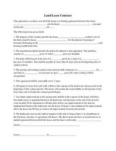 Basic Land Lease Agreement Form