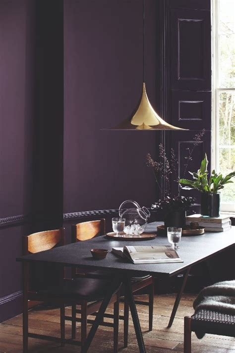 lovely dark purple wild blackberry paint colour  dulux