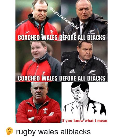 All Blacks Meme - coached wales before all blacks coached wales before all blacks if you kno what i mean rugby