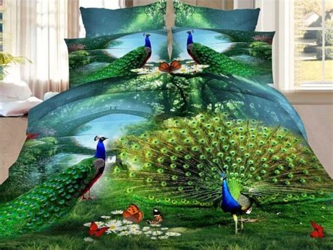 awesome peacock bedding sets    cool bedroom