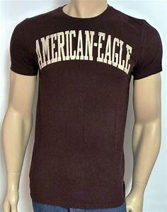 American Eagle Outfitters AEO Dark Burgundy Cracked Tee Mens T Shirt New | eBay