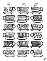 Coloring Coffee Pages Adult Colouring Cups Adults Printable Sheets Popsugar Theme Printables Feel Stress Para Smart Colorear Living Don Momsandcrafters sketch template
