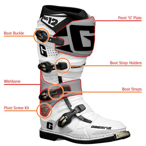 motocross boot straps gaerne sg12 motocross boot spares long straps