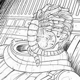 Coloring Alien Pages Books Covenant Aliens Exclusive Horror Sci Fi Xenomorph Gory Face Four Bloody Disgusting Human Facehugger Template sketch template