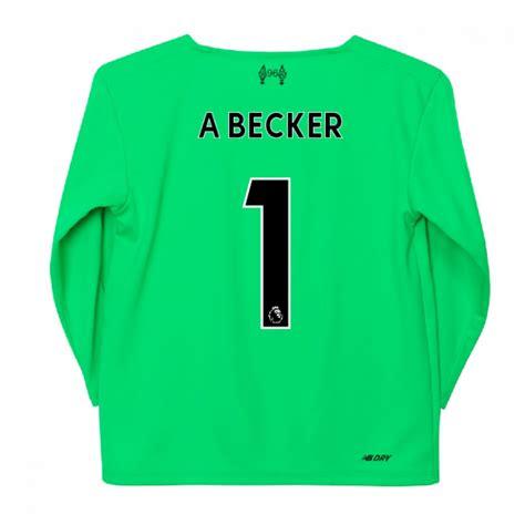 2019-2020 Liverpool Away Goalkeeper Mini Kit (A Becker 1 ...