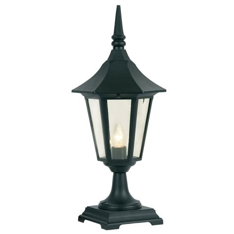191 ped bk cardinal outdoor post top wall light in black