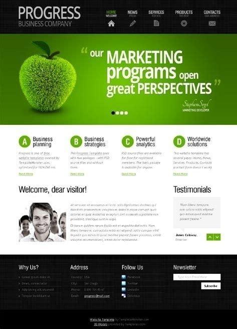 simple website template design beepmunk