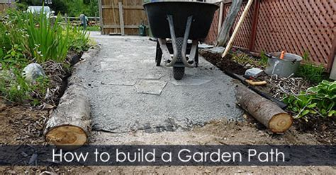 Gardens How To Build by Garden Path Building Guide How To Build A Cheap Garden