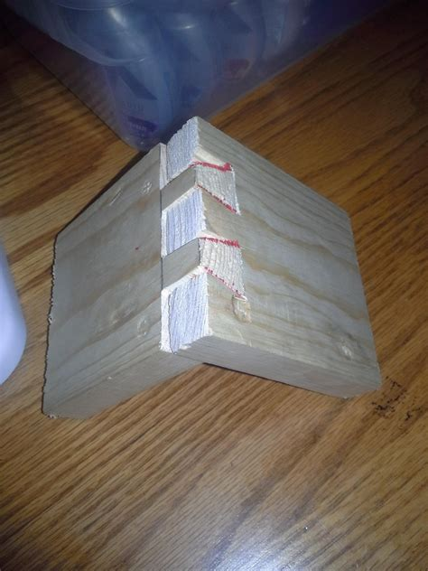 attempt   hand  dovetail joint woodworking
