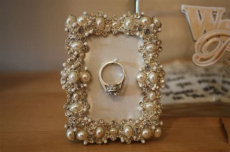 busy broad diy picture frame ring holder