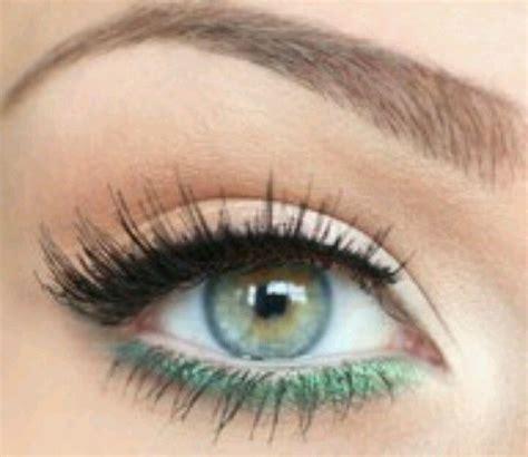 simple makeup  blue green eyes makeup pinterest