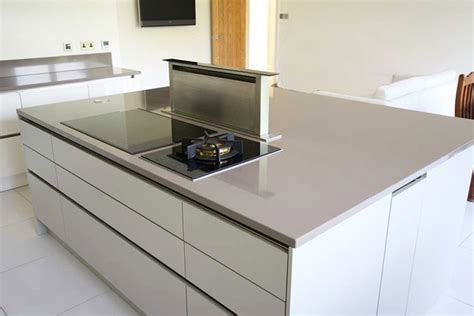 modern kitchen island with hob kitchen island pop up extractor contemporary