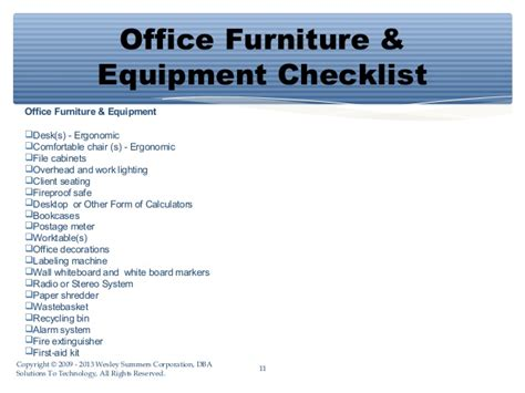 Essential Shopping List for Starting a Office for a Small ...