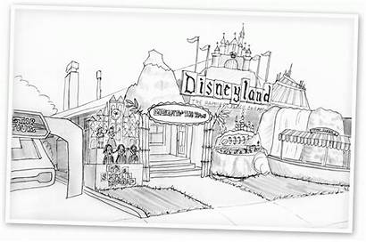 Disneyland Coloring Pages Haunted Disney Printable Places