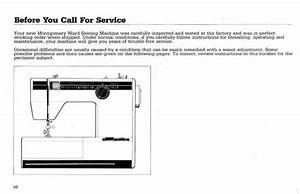Montgomery Ward 1948 Sewing Machine Instruction Manual In