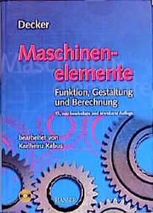 U201edecker  Maschinenelemente Tabellen Und Diagramme