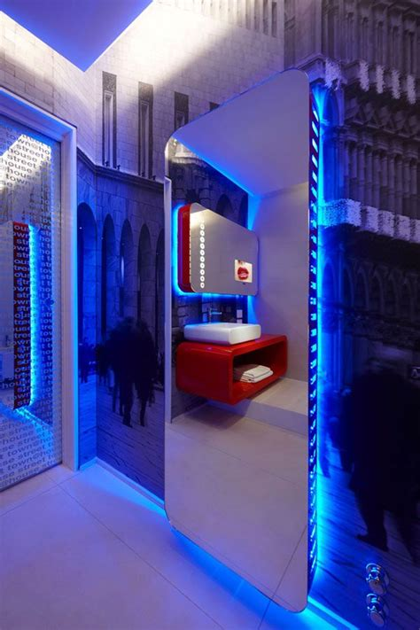 home interior design led lights futuristic interior town house street 8 milans four boutique hotel suites boasting