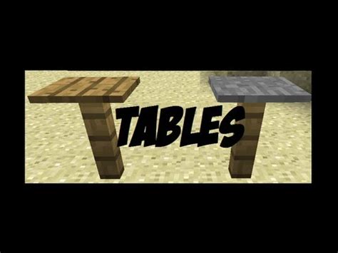 how to make tables in minecraft minecraft furniture