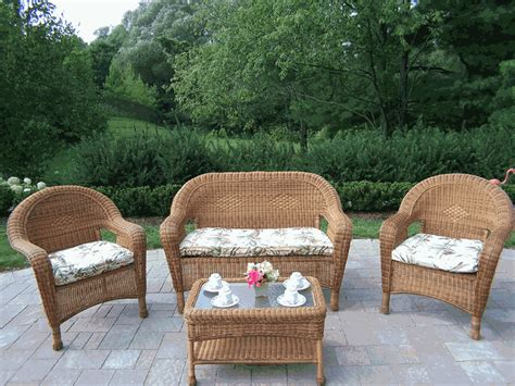 wicker patio chairs traditional outdoor decorations