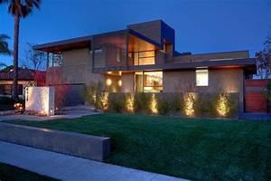 Eclairage Moderne : eclairage exterieur maison moderne architecte ~ Farleysfitness.com Idées de Décoration