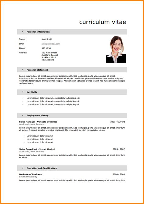 Curriculum Vitae Francais Exemple Simple by Cv Fran 231 Ais Mod 232 Le Cv Exemple Simple Psco