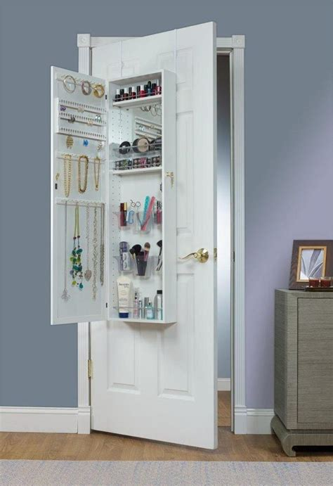 The Door Mirrored Hanging Armoire by Quot The Everything Quot Cosmetic Jewelry Armoire Organizer