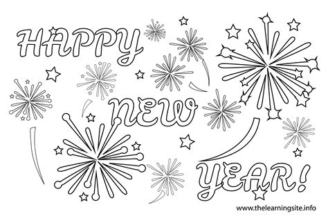 Fireworks Coloring Page A Free Holiday Printable