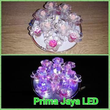 lampu led ceiling motif bunga prima jaya led