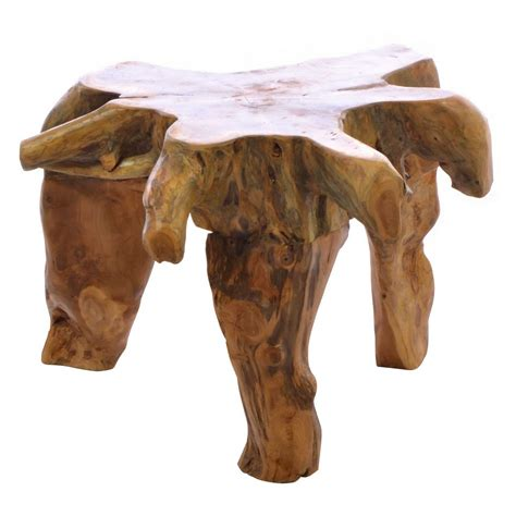 It is powdered by grinding the coffee seeds. Natural Tree Root Coffee Table Hand Made Wooden Carved Design