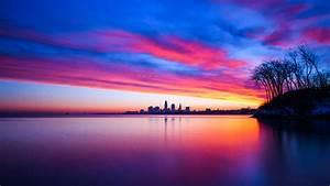 Sunset, Cityscape, 4k, 5k, Wallpapers
