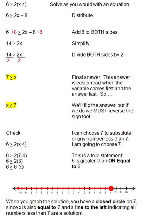 solving inequalities   variable