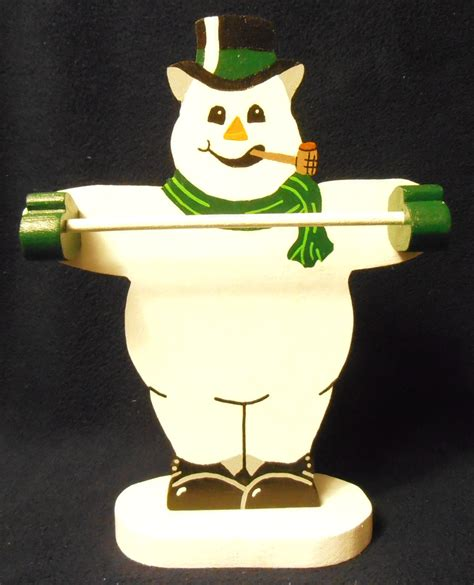 snowman candy cane holder stans wood crafts