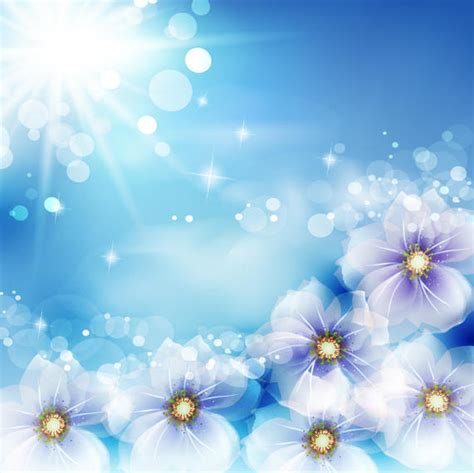 shiny background  fantasy flowers  sun glares